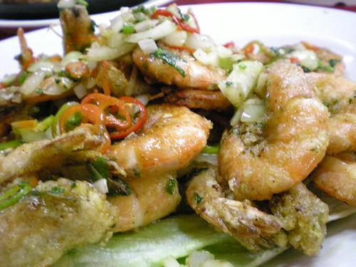 Salty crispy prawns