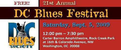 DC Blues Festival, Saturday September 5, 2009