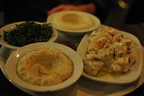 All chicken lemon garlic mixed plate