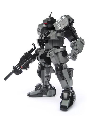 LEGO Gundam-style mecha