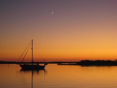 Serene sunset in Mile Hammock