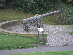 Portuguese Canon on Calton Hill in Edinburgh, Scotland