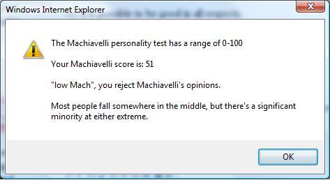 Machiavellianism; Manipulation. Psychological