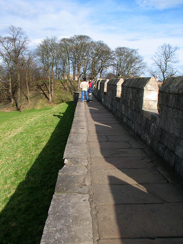 Walking on the city wall by you.