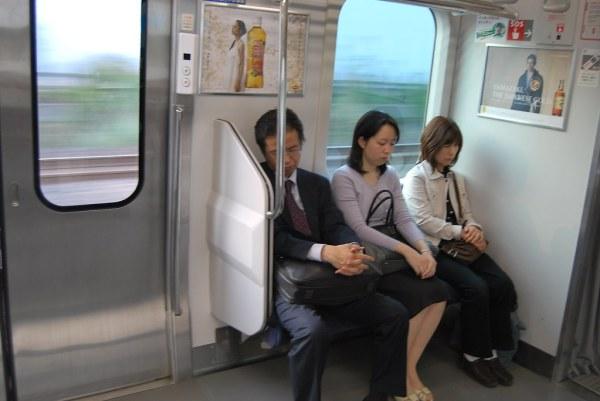 Durmiendo hacia Yokohama