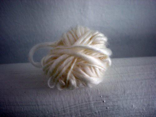 milk yarn ball