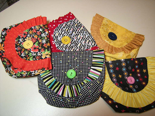 Makeup Bags - all cotton with button closures.