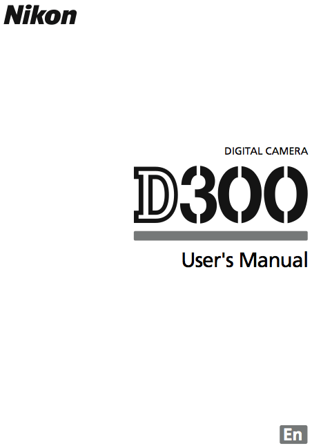 Nikon D300 Manual Available for Download