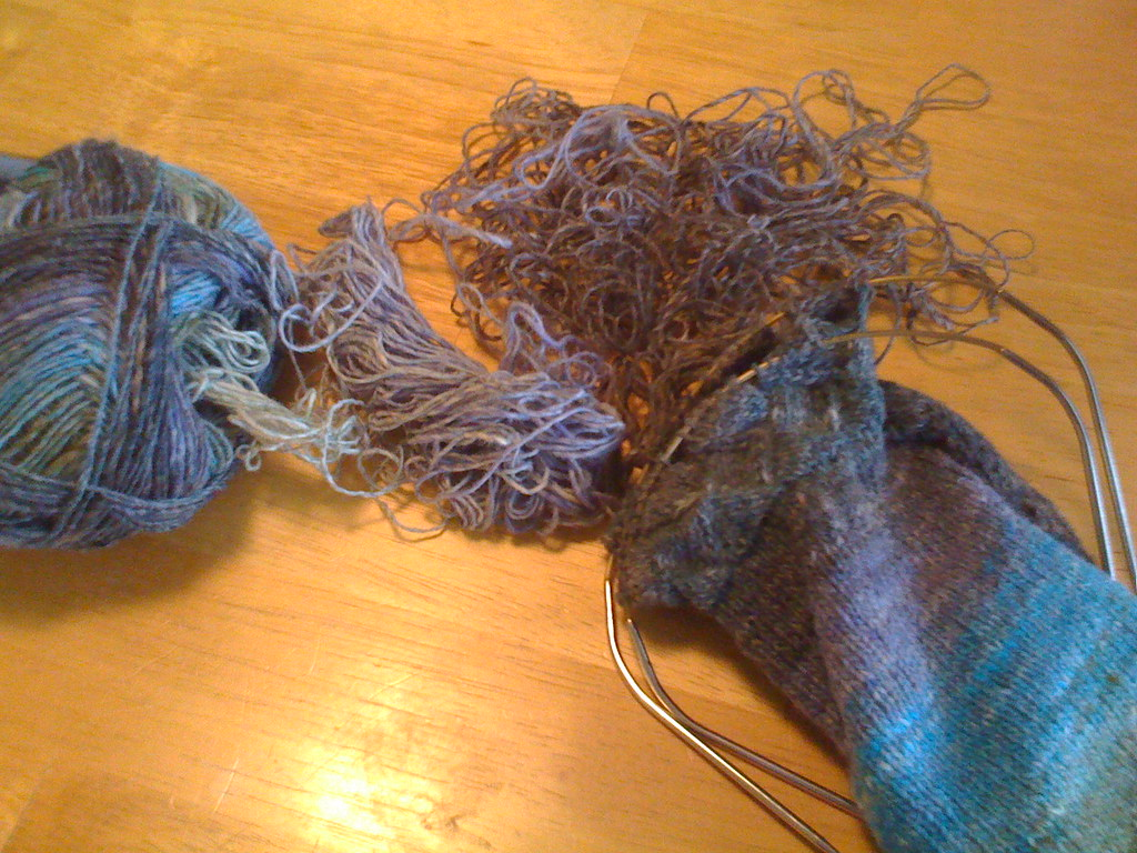 Entrelac socks 04