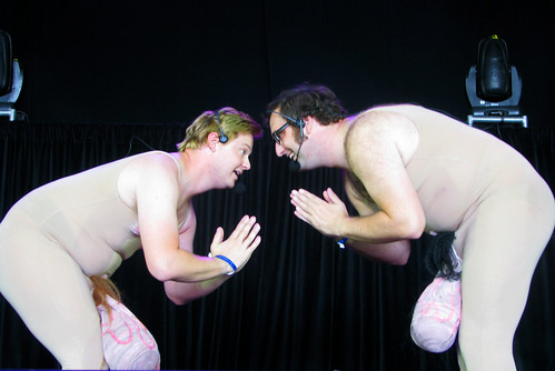 Tim & Eric at All Points West; photo by Jillian Mapes