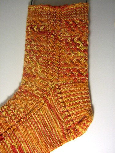 Mad Color Weave socks knit in Crystal Palace Bamboo Silk