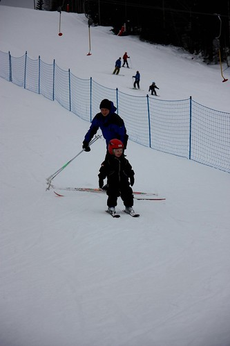 In the slopes!