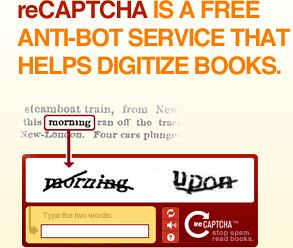 reCAPTCHA: Stop Spam, Read Books