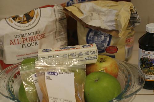 apple pie pre-assembly