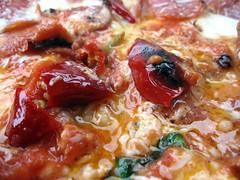 antico pizza - diavaola in detail