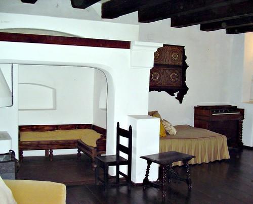 En el interior del Castillo de Bran, también conocido como Castillo de Drácula