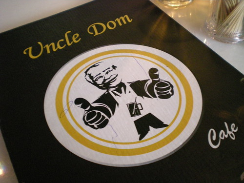 Uncle Dom menu