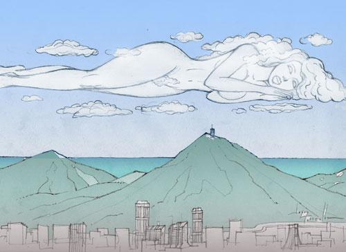Cielo de Caracas, ilustración piedrera realizada a toda carrera para foroZup