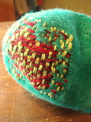 darning complete - inside view