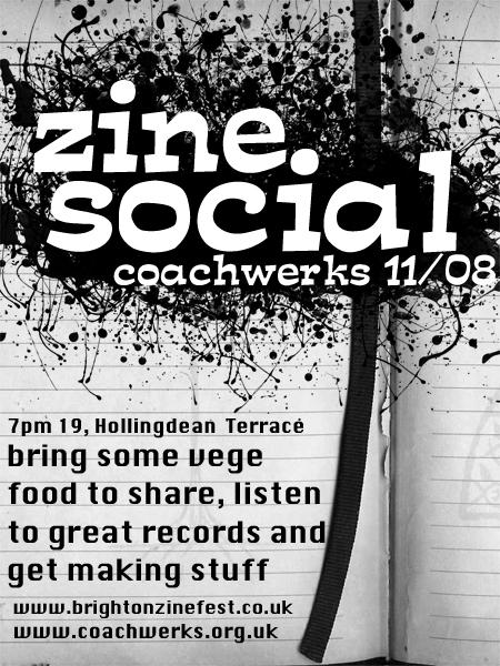 August Zine Social flyer