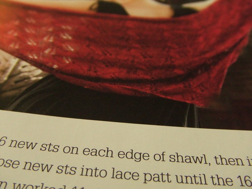 Tuscany shawl, pattern detail