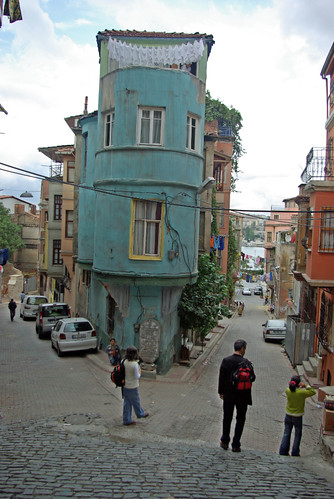 Old house and colorful streets of Balat, Balat Istanbul, pentax k10d