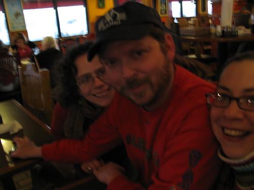 Three of us at the Mellow Mushroom