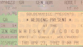 The Wedding Present, Whisky