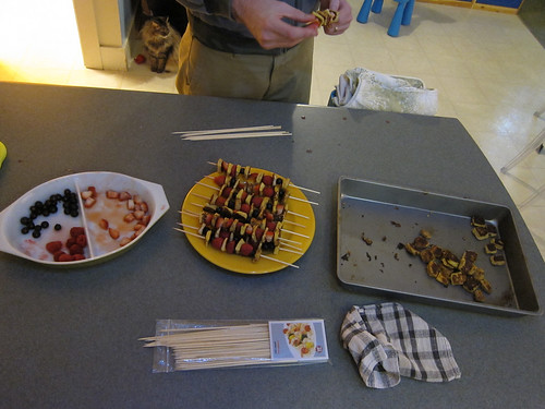 Assembling French Toast Kebabs