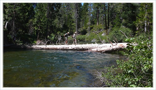 River crossing in the Sierras, Northern California.