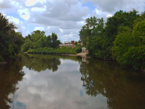 My favorite river - the St. Marys from the Clinton Street Bridge on my way to take my ride