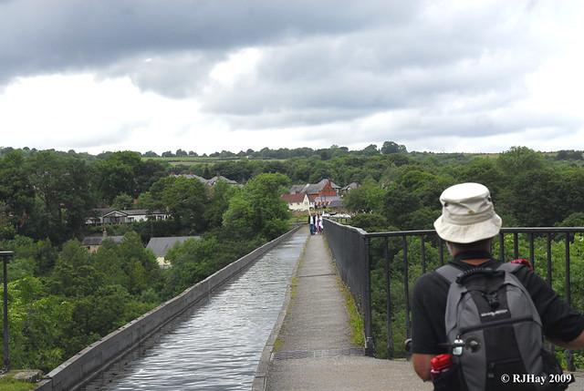 Pondering the Crossing - Llangollen Canal across the Pontcysyllte Aqueduct