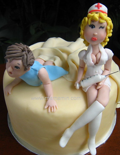 Naughty - Get Well Soon cake