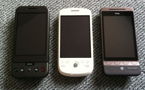 HTC Android lineup