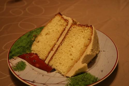 A slice of birthday cake