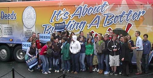 Mary Washington Dems Visit Rally Bus