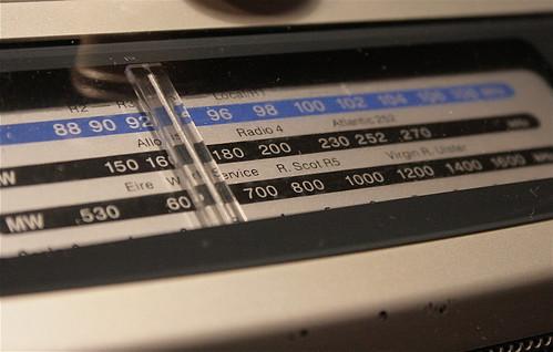 An old radio tuned into Radio 4
