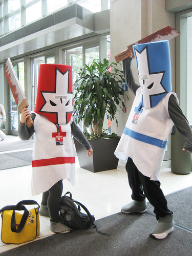 Castle Crashers cosplayers!