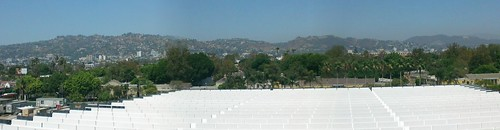 View of the hollywood hills from  LACMA