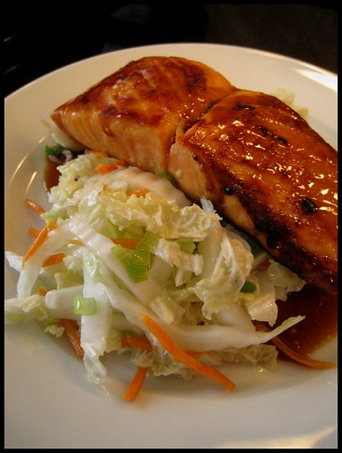 Maple Glazed Salmon with Asian Slaw