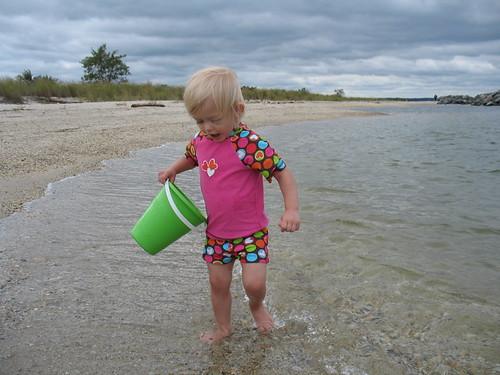 bub at the beach
