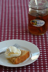 vanilla bean pound cake with kathy's syrup