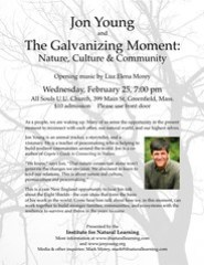 Naturalist and Author Jon Young to Speak in Greenfield on February 25 on Nature, Culture & Community
