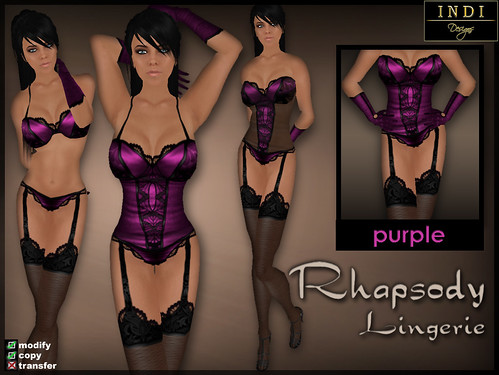 "Lingerie ""Rhapsody"" purple"