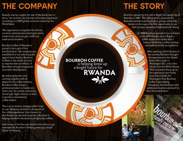 Bourbon Coffee Brewing Change Brochure