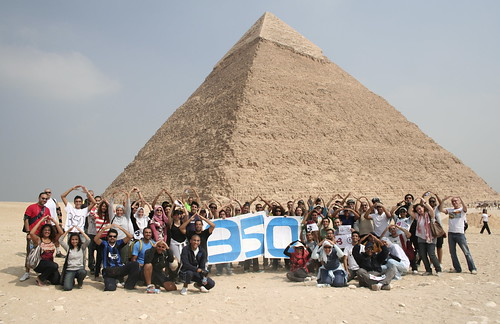 350 Pyramids Action--Provided by 350.org