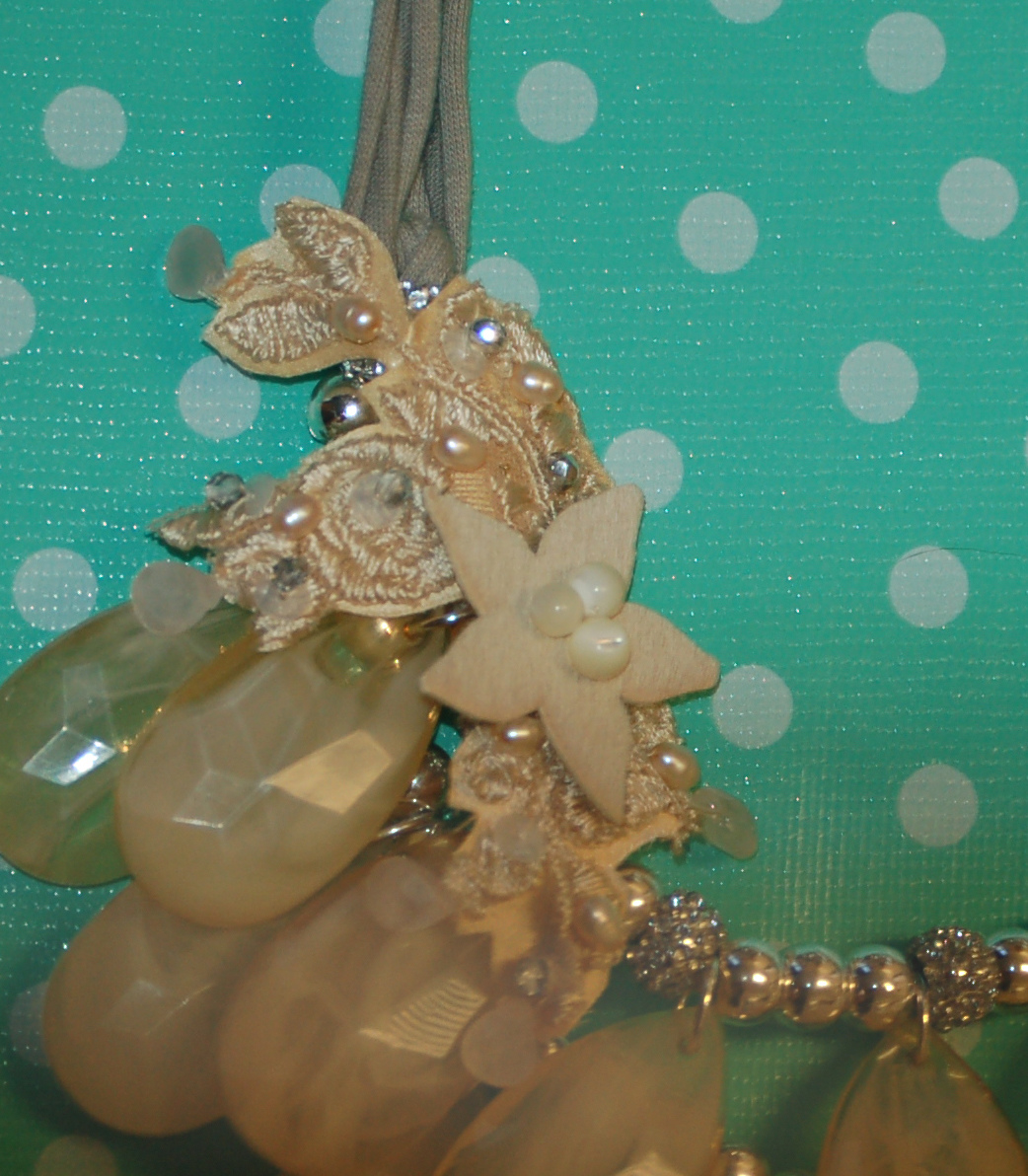 Rococo-inspired necklace detail