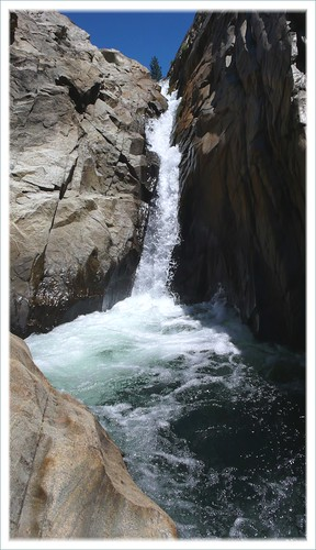 High Sierra waterfall.