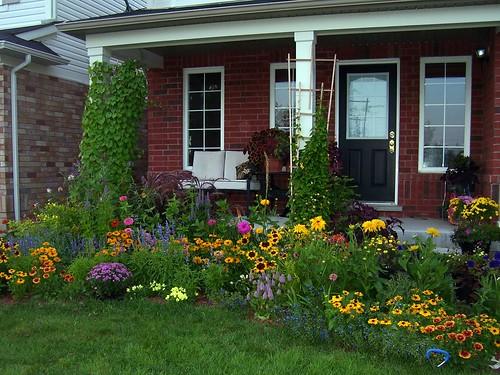 front flower garden 2009
