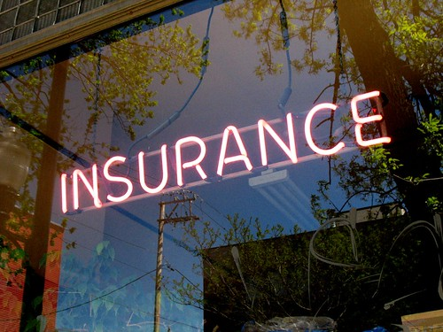Neon Insurance Office Sign by David Hilowitz